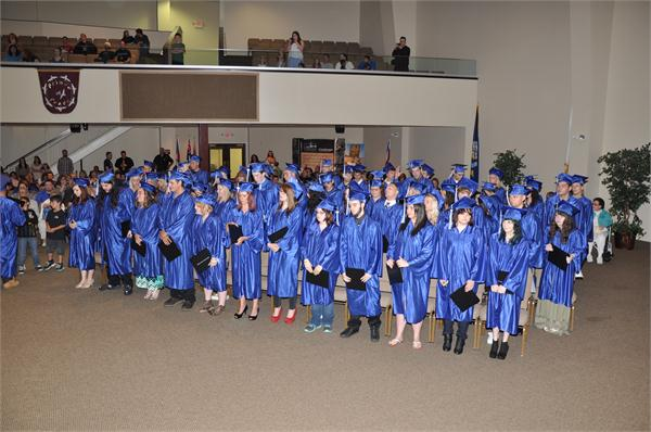 Photo of students at graduation ceremony