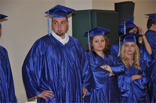 Photo of Greater Ohio Virtual School Students at graduation ceremony