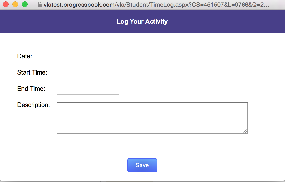 Log Your Activity